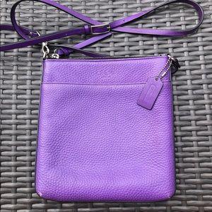 Coach Crossbody Messenger Bag - Purple